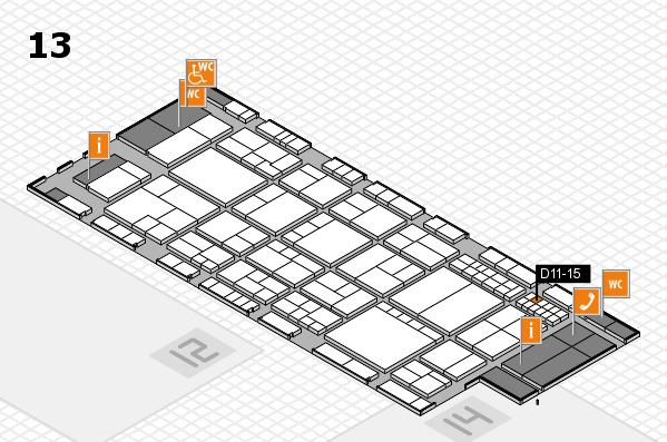 interpack 2017 Hallenplan (Halle 13): Stand D11-15