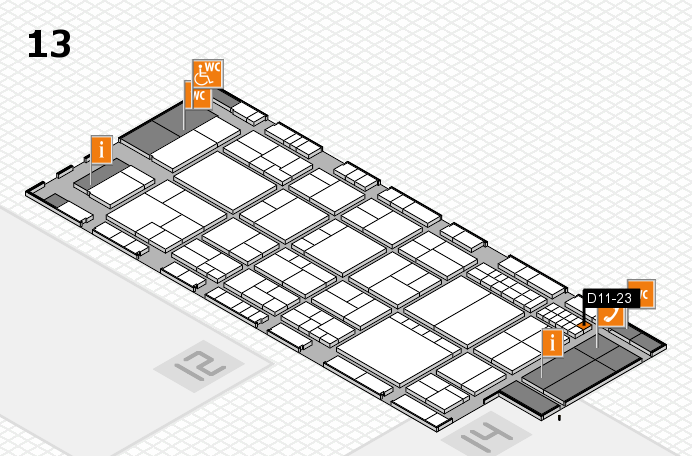 interpack 2017 hall map (Hall 13): stand D11-23