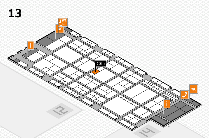 interpack 2017 hall map (Hall 13): stand C65