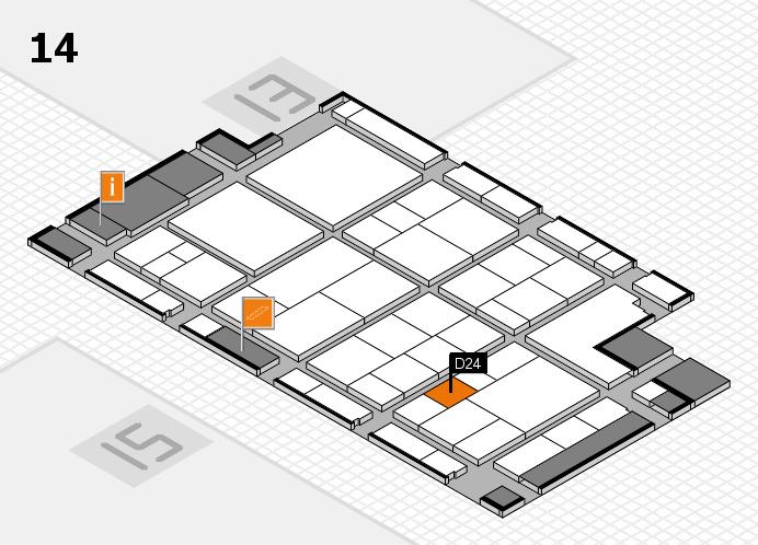 interpack 2017 Hallenplan (Halle 14): Stand D24