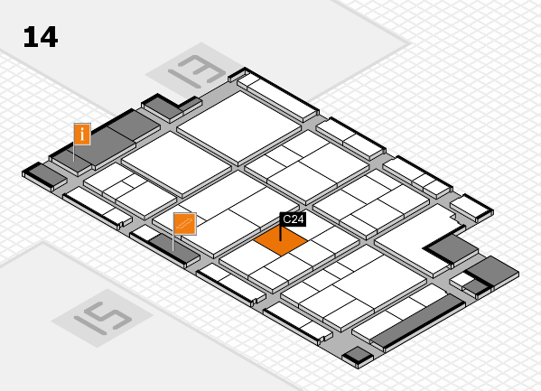 interpack 2017 hall map (Hall 14): stand C24