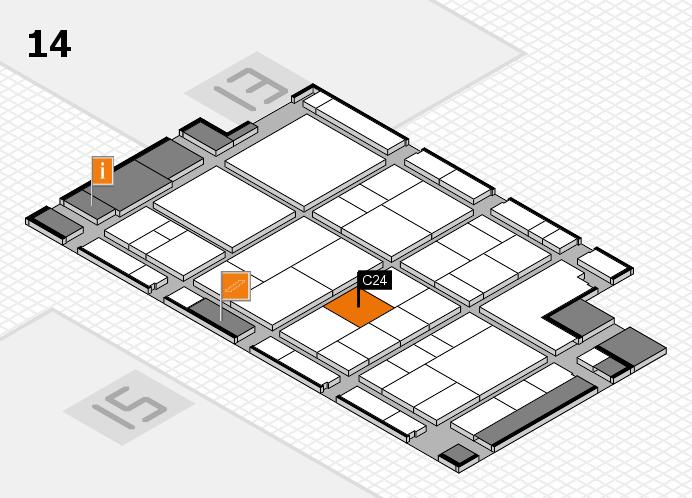interpack 2017 Hallenplan (Halle 14): Stand C24