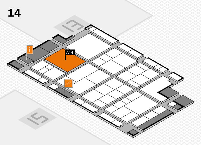 interpack 2017 hall map (Hall 14): stand A14