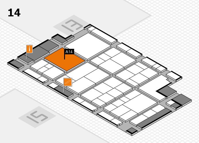 interpack 2017 Hallenplan (Halle 14): Stand A14