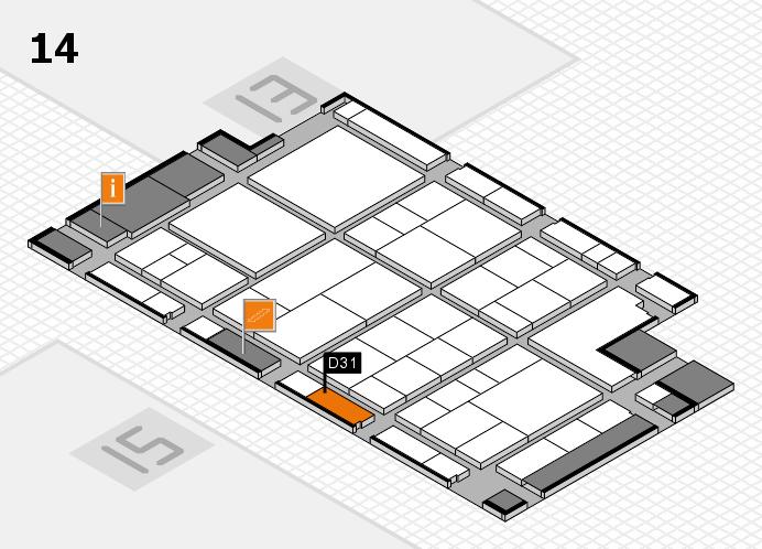 interpack 2017 Hallenplan (Halle 14): Stand D31