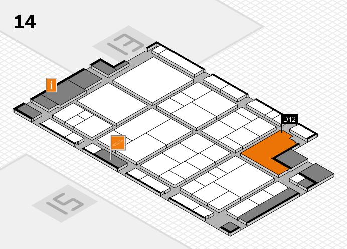 interpack 2017 Hallenplan (Halle 14): Stand D12