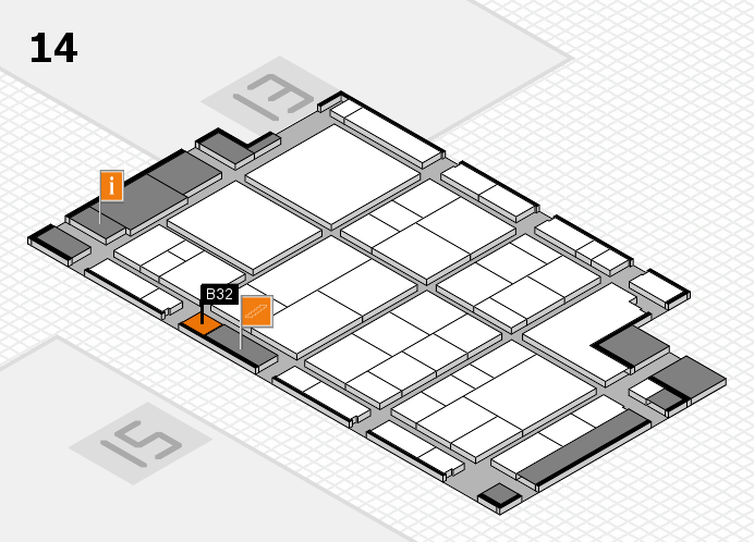interpack 2017 hall map (Hall 14): stand B32