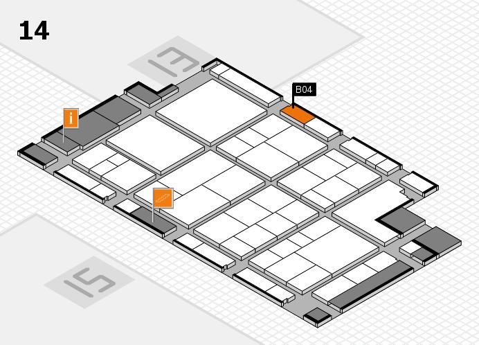 interpack 2017 Hallenplan (Halle 14): Stand B04