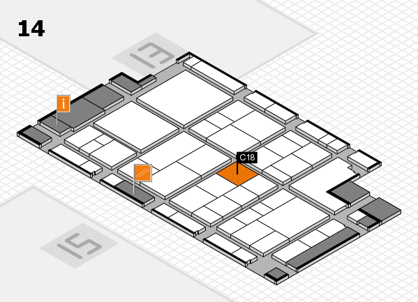 interpack 2017 hall map (Hall 14): stand C18