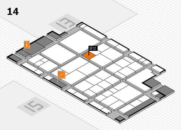 interpack 2017 Hallenplan (Halle 14): Stand B12