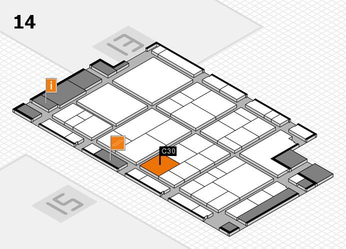 interpack 2017 Hallenplan (Halle 14): Stand C30