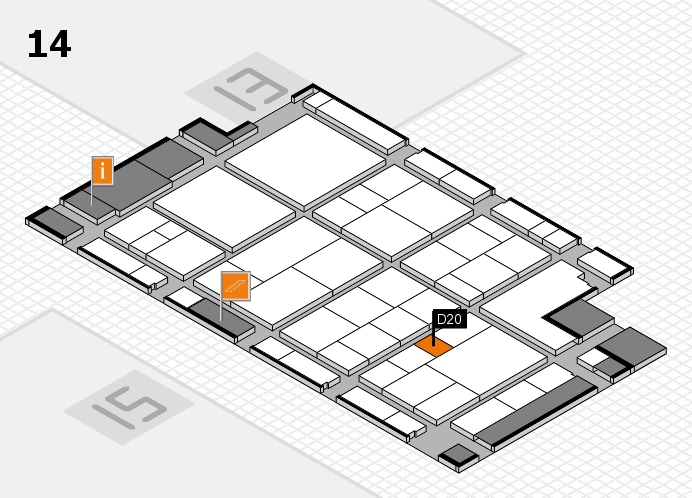 interpack 2017 Hallenplan (Halle 14): Stand D20