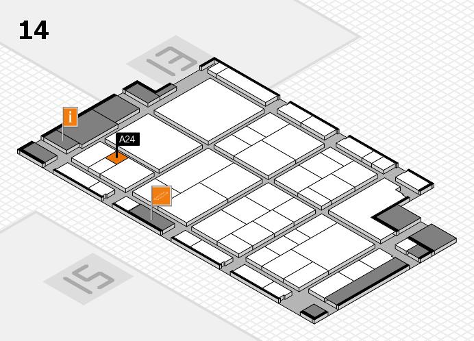 interpack 2017 Hallenplan (Halle 14): Stand A24
