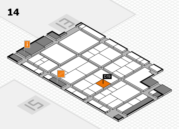 interpack 2017 hall map (Hall 14): stand D19