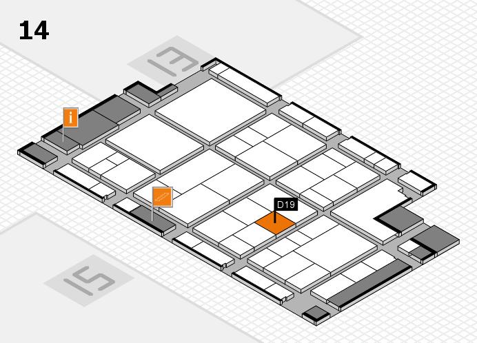 interpack 2017 Hallenplan (Halle 14): Stand D19