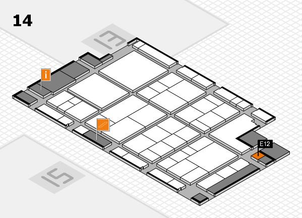 interpack 2017 Hallenplan (Halle 14): Stand E12