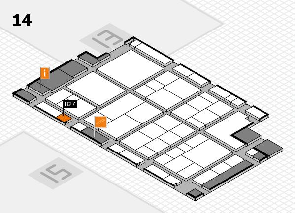 interpack 2017 Hallenplan (Halle 14): Stand B27