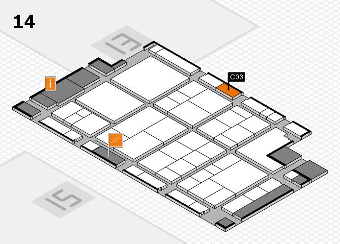 interpack 2017 Hallenplan (Halle 14): Stand C03