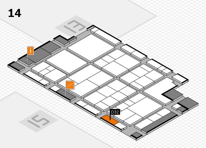interpack 2017 Hallenplan (Halle 14): Stand D32