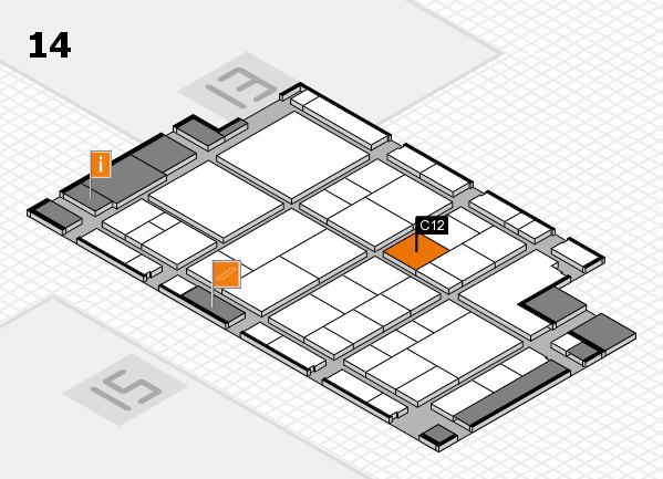 interpack 2017 Hallenplan (Halle 14): Stand C12