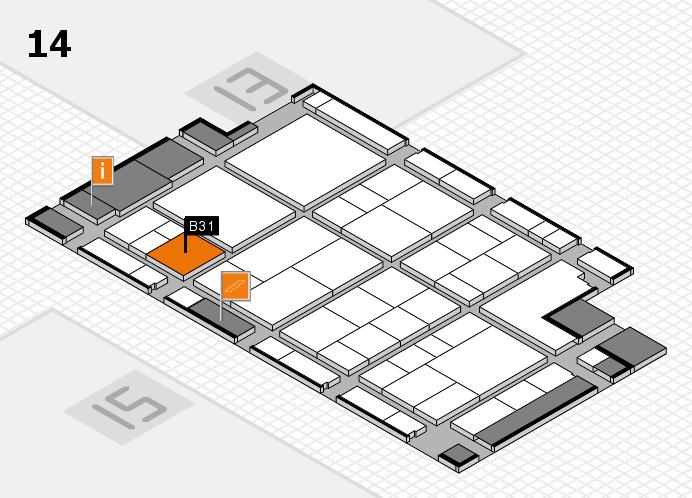 interpack 2017 Hallenplan (Halle 14): Stand B31