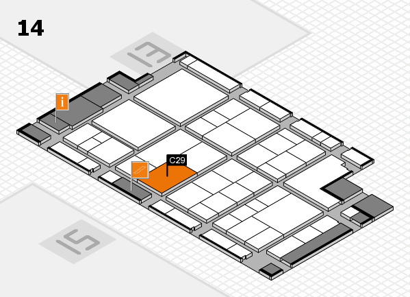 interpack 2017 hall map (Hall 14): stand C29