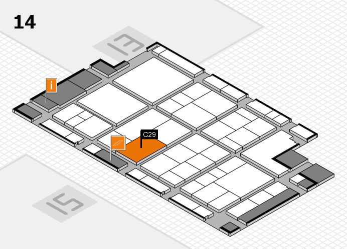 interpack 2017 Hallenplan (Halle 14): Stand C29