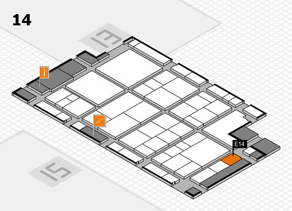 interpack 2017 Hallenplan (Halle 14): Stand E14