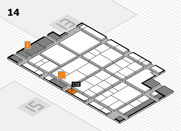 interpack 2017 hall map (Hall 14): stand C32