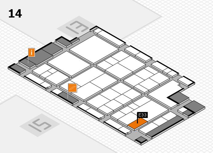 interpack 2017 Hallenplan (Halle 14): Stand E33