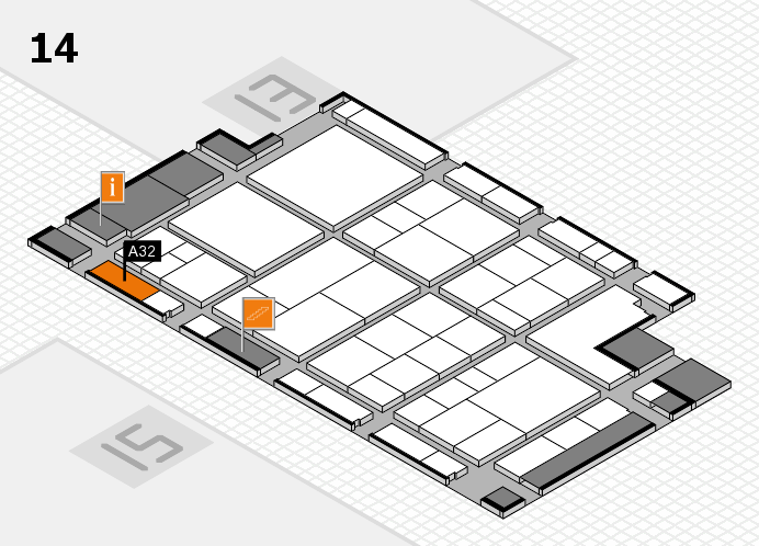 interpack 2017 hall map (Hall 14): stand A32