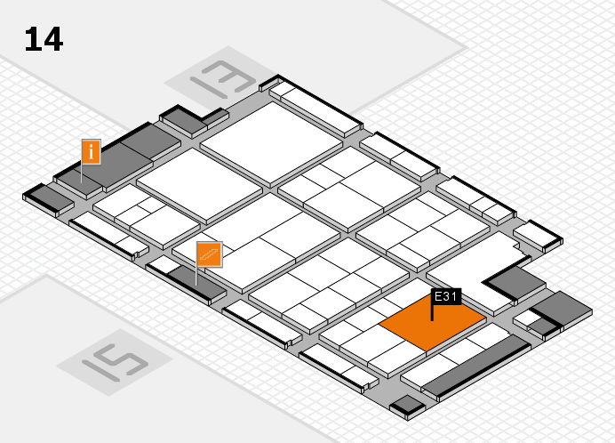 interpack 2017 hall map (Hall 14): stand E31