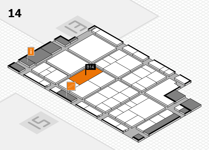 interpack 2017 hall map (Hall 14): stand B14