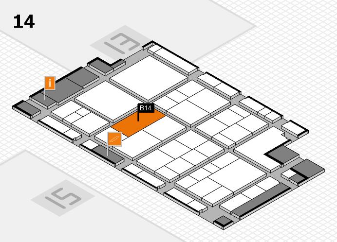 interpack 2017 Hallenplan (Halle 14): Stand B14