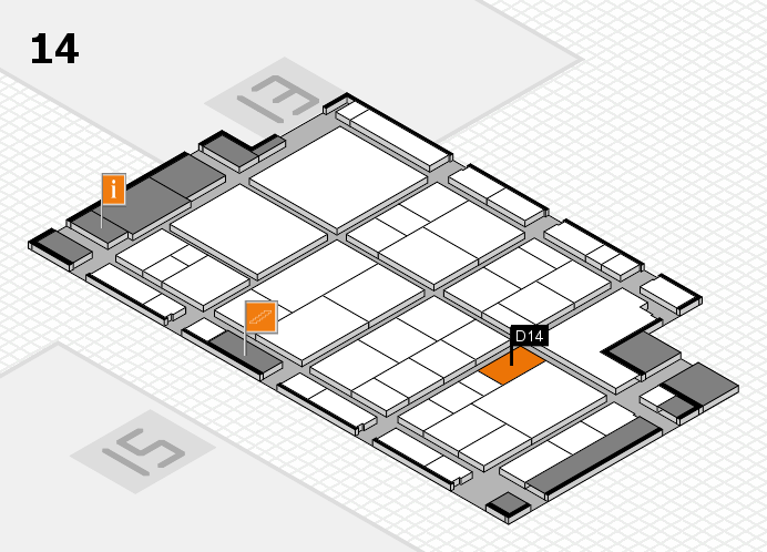 interpack 2017 hall map (Hall 14): stand D14