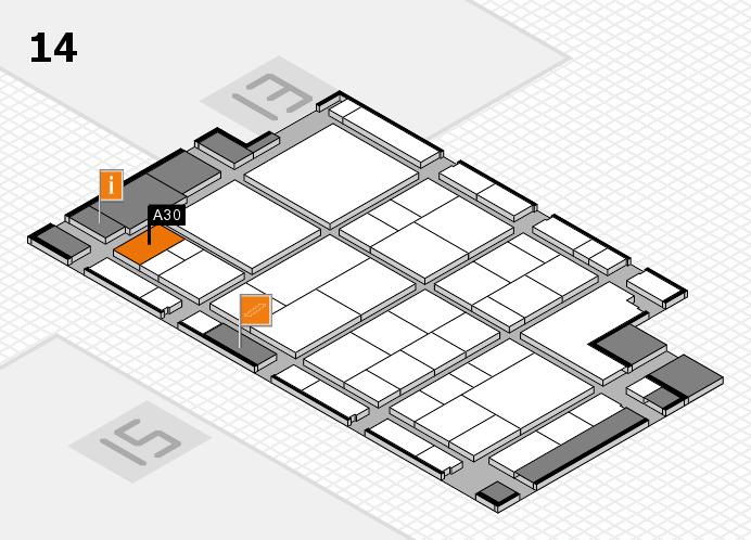 interpack 2017 Hallenplan (Halle 14): Stand A30