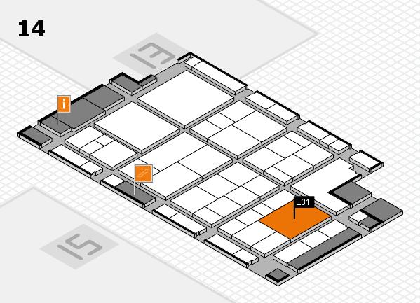 interpack 2017 Hallenplan (Halle 14): Stand E31