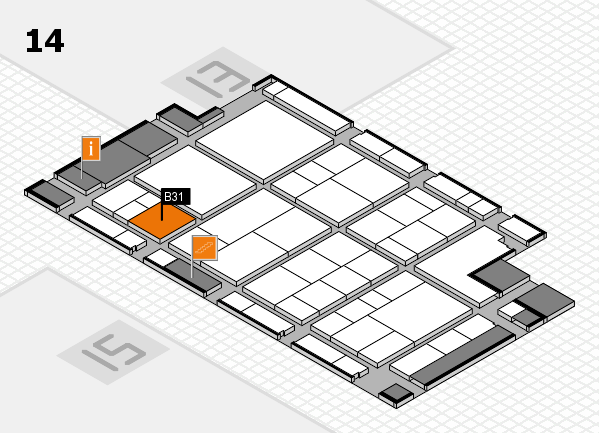 interpack 2017 hall map (Hall 14): stand B31