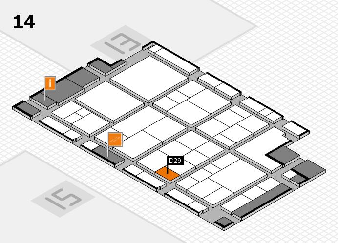 interpack 2017 Hallenplan (Halle 14): Stand D29