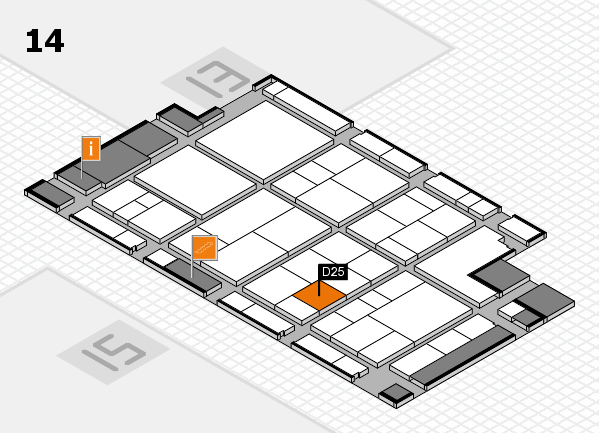 interpack 2017 hall map (Hall 14): stand D25