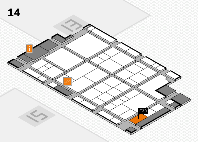 interpack 2017 Hallenplan (Halle 14): Stand E30