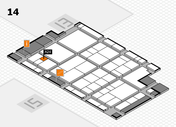 interpack 2017 hall map (Hall 14): stand A24