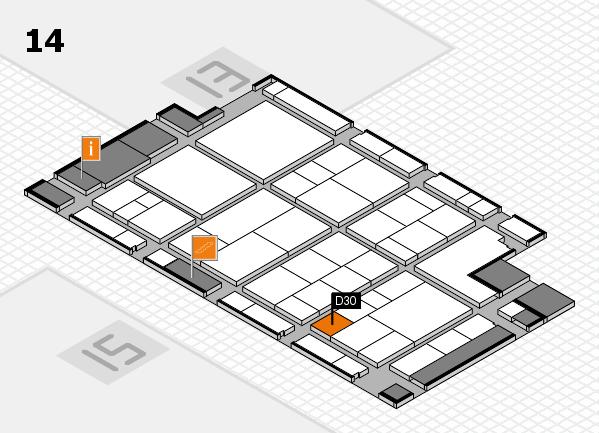 interpack 2017 Hallenplan (Halle 14): Stand D30