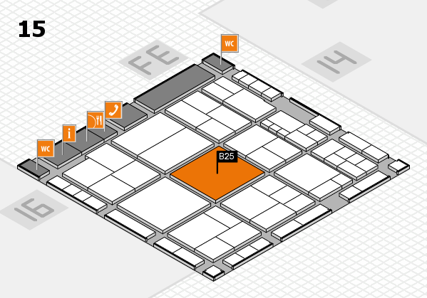 interpack 2017 hall map (Hall 15): stand B25