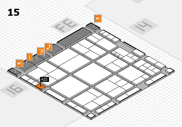 interpack 2017 hall map (Hall 15): stand A22