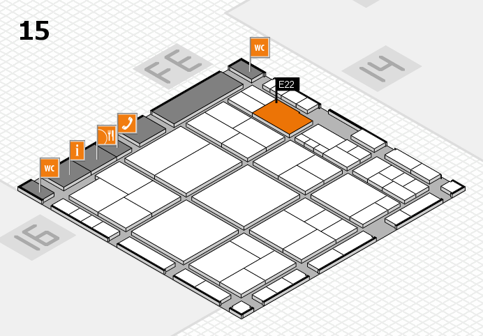 interpack 2017 hall map (Hall 15): stand E22