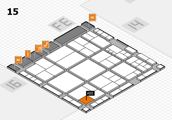 interpack 2017 hall map (Hall 15): stand A55
