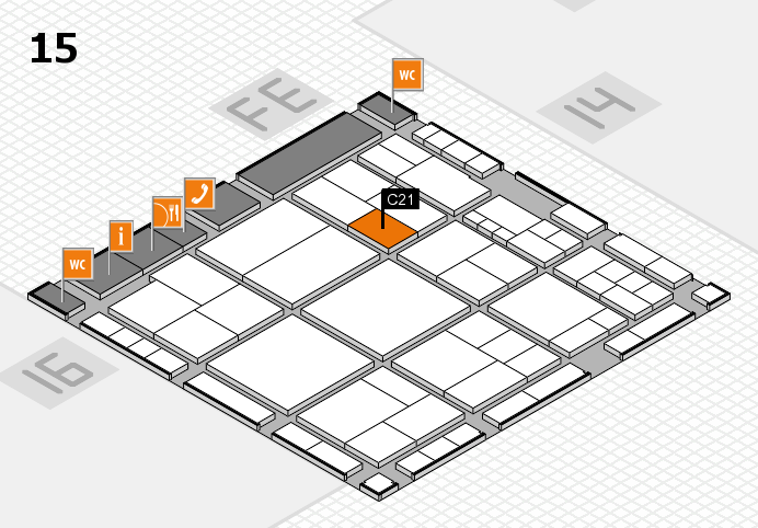 interpack 2017 hall map (Hall 15): stand C21