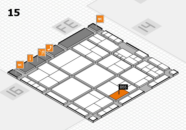 interpack 2017 hall map (Hall 15): stand B55