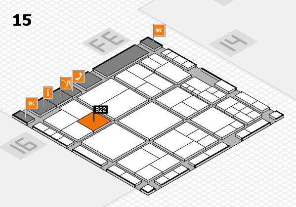 interpack 2017 hall map (Hall 15): stand B22